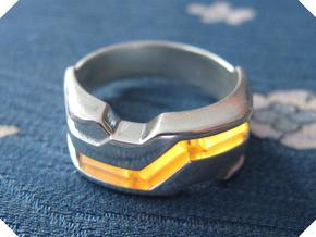 US14 Ring XXI: Tritium (Silver) in Polished Silver