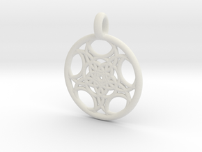 Euanthe pendant in White Strong & Flexible