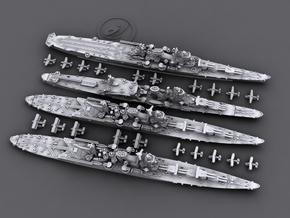 1/4800 IJN Cruisers [1944] - Tone, Mogami, Oyodo in Frosted Ultra Detail