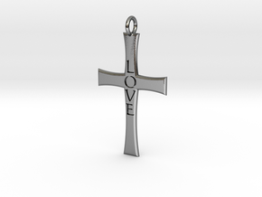 Cross Pendant in Polished Silver