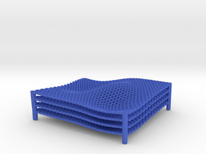 Lattice Square-honeycomb in Blue Strong & Flexible Polished