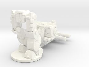 Mattock MkA Heavy Combat Walker - 6mm scale in White Strong & Flexible Polished