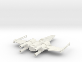 Space Superiority Fighter 7 Closed Wings in White Strong & Flexible