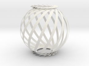 Ball Twist Spiral For Candle or Lantern  in White Strong & Flexible