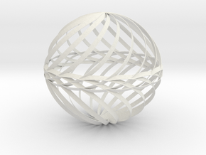 Decorative Ball Twist Spiral V1 in White Strong & Flexible