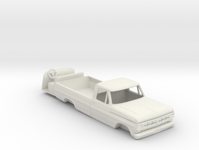 1:64 scale 1967 Ford pickup cab with interior in White Strong & Flexible