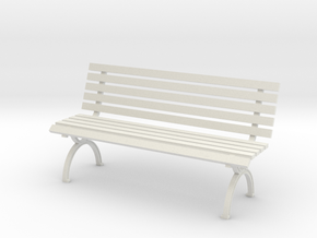 1:24 Park Bench in White Strong & Flexible
