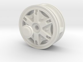 Wheel-Front-Hex-drive in White Strong & Flexible