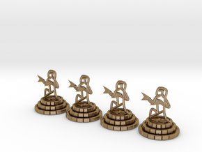 Chess set of Egypt(P) in Polished Gold Steel