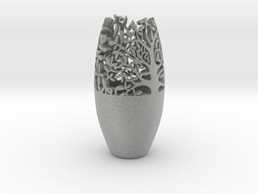Decorative Tabletop Flower Vase  in Metallic Plastic