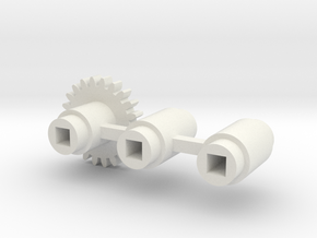 Split-frame Gears For Mainline OO locos. in White Strong & Flexible