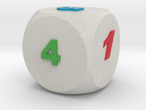 Multi-coloured Dice v1.0 in Full Color Sandstone