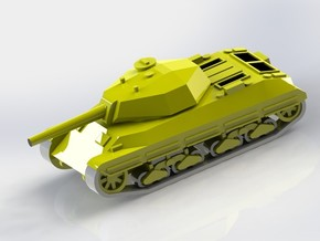 Italian P43 Tank 1/100 15mm Scale in White Strong & Flexible