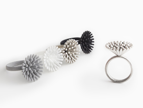 Spike Ring - US 8 size in Polished Nickel Steel