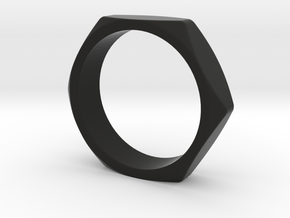 Screw ring (US size#6) in Black Strong & Flexible