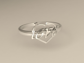 Ring Of Love in Polished Silver