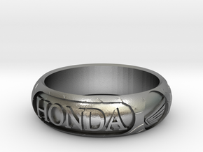 "Honda ring size P - 56mm - 2""1/4  in Raw Silver"