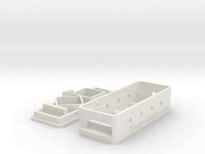 MinimOSD Enclosure w/ support for heat sinks in White Strong & Flexible