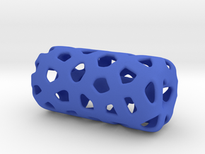 HOLLOW VORONOI Bead For jewelry Making. in Blue Strong & Flexible Polished