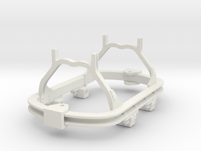 1:35 or Gn15 small skip chassis grease axlebox in White Strong & Flexible
