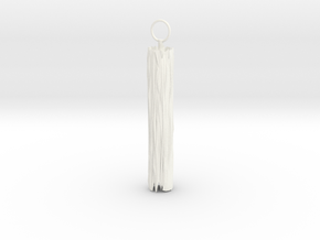 Edge Keyring in White Strong & Flexible Polished