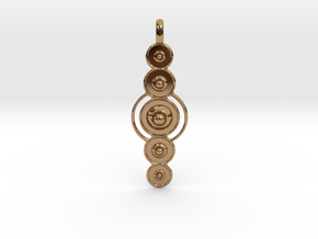COSMIC PLANETS Designer Jewelry Pendant  in Polished Brass