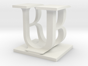 Two way letter / initial B&U in White Strong & Flexible
