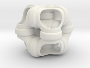 Hollowed out cube looped and piped. #1 Smaller in White Strong & Flexible