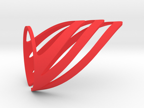 Chevron (Large) in Red Strong & Flexible Polished