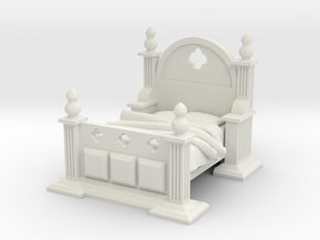 Gothic Bed in White Strong & Flexible