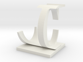 Two way letter / initial C&L in White Strong & Flexible