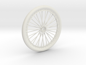 Bicycle wheel miniature in White Strong & Flexible