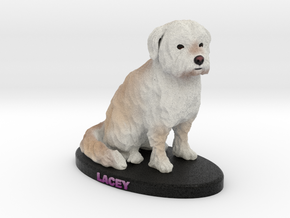 Custom Dog Figurine - Lacey in Full Color Sandstone