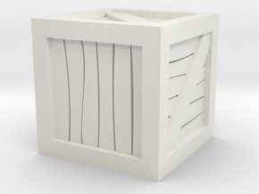 Crate 28mm Miniature Scale in White Strong & Flexible