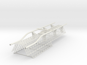 Spine Upper Aft V0.8 (repaired) in White Strong & Flexible