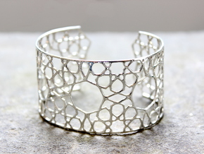 Silver Cairo Arab Bracelet in Polished Silver