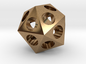 Icosahedron in Raw Brass