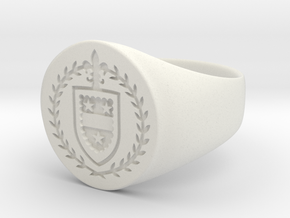 StCyr Crest Ring - Circular - Size 10 in White Strong & Flexible
