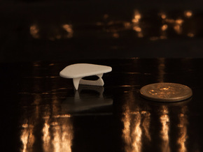 1:48 Noguchi Coffee Table in White Strong & Flexible