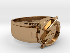 Flash Ring Size 12.5 21.89 mm  in Polished Brass