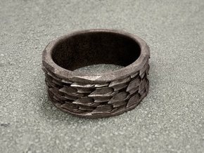 Shark Skin ring: size 7 (US) O (UK) in Stainless Steel