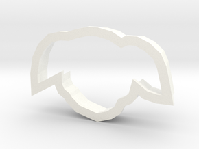 Chiyo-chan cookie cutter in White Strong & Flexible Polished