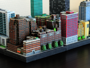 New York set 3 residential building B 5 x 2 in Full Color Sandstone