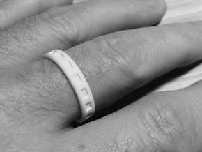 Simple Men's Ring - Size 10.25 in White Strong & Flexible