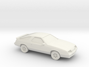1/87 1984-87 Dodge Daytona/Chrysler Laser  in White Strong & Flexible