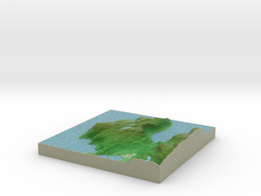 Terrafab generated model Mon Dec 29 2014 23:16:53  in Full Color Sandstone