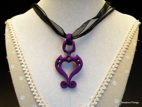 Pendant Higher Love classic in Purple Strong & Flexible Polished