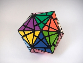 Fractured Cube Puzzle in White Strong & Flexible