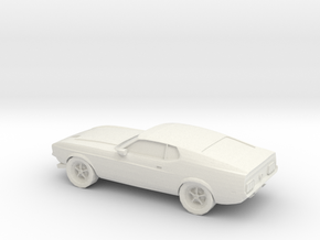 1/87 1970 Ford Mustang Mach 1 in White Strong & Flexible