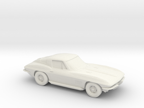 1/87 1963 Corvette Stingray in White Strong & Flexible